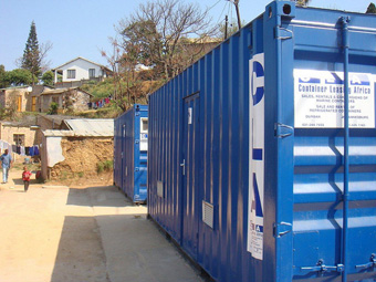 Ablution containers: Photograph courtesy of eThekwini Water and Sanitation