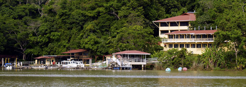 The station on Barro Colorado Island where the researchers studied tropical forests.: Photograph courtesy of STRI
