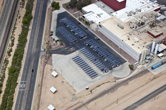 At the Casa Grande, Arizona, Frito-Lay facility, a state-of-the-art water filtration and purification system recycles and reuses: approximately 80 % of the process water used in production. Photograph courtesy of PepsiCo.
