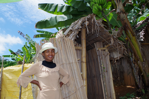 Marceline, had her husband build the family's first latrine in 2013. In this region in the East of Madagascar: more than 800 villages now have latrines for every household thanks to support from the Global Sanitation Fund programme.  Photograph c WSSCC/Katherine Anderson