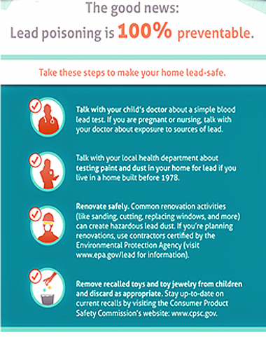 Lead Poisoning Prevention Infographic: Click image to go to the Infographic