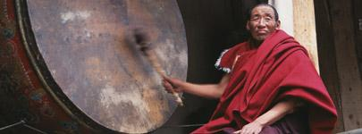 Zhechen Monastery drum: Photograph by Andrew Quintman
