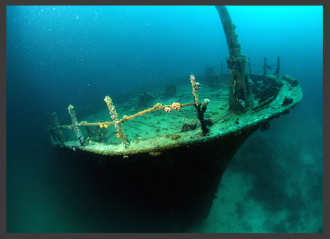 Thunder Bay National Marine Sanctuary, designated as a sanctuary in 2000 to protect the many shipwrecks of the region,: Photograph courtesy of NOAA