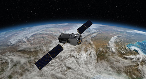 NASA's Orbiting Carbon Observatory (OCO)-2 (Artist Concept): Artist's rendering of NASA's Orbiting Carbon Observatory (OCO)-2, one of five new NASA Earth science missions set to launch in 2014, and one of three managed by JPL.