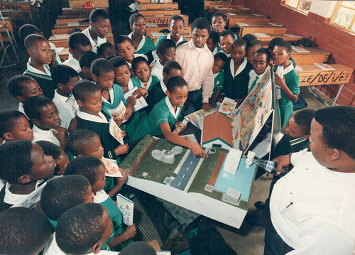 Water Education in schools: Photograph courtesy of eThekwini Water and Sanitation