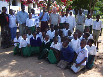 School children coming for examination for S. mansoni infection at school, Magu district, Tanzania: Photograph by Dr. Pascal Magnussen