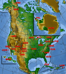NSF's 26 LTER sites circle the globe and stretch from pole to pole.: Photograph courtesy of NSF LTER Network Office