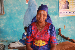 Diabou lives in a village which has latrines thanks to a program supported by GSF.: Photograph by Katherine Anderson/WSSCC.